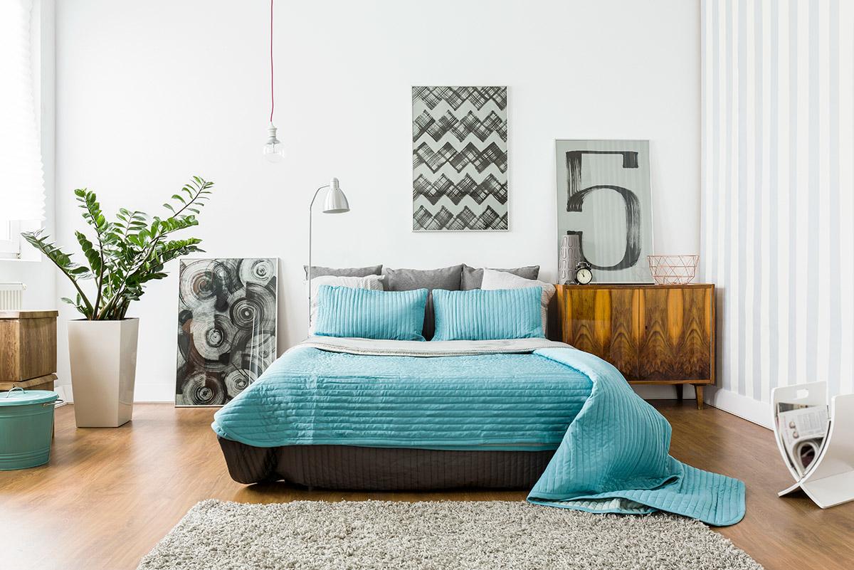 chambre moderne lit meuble sur mesure bois