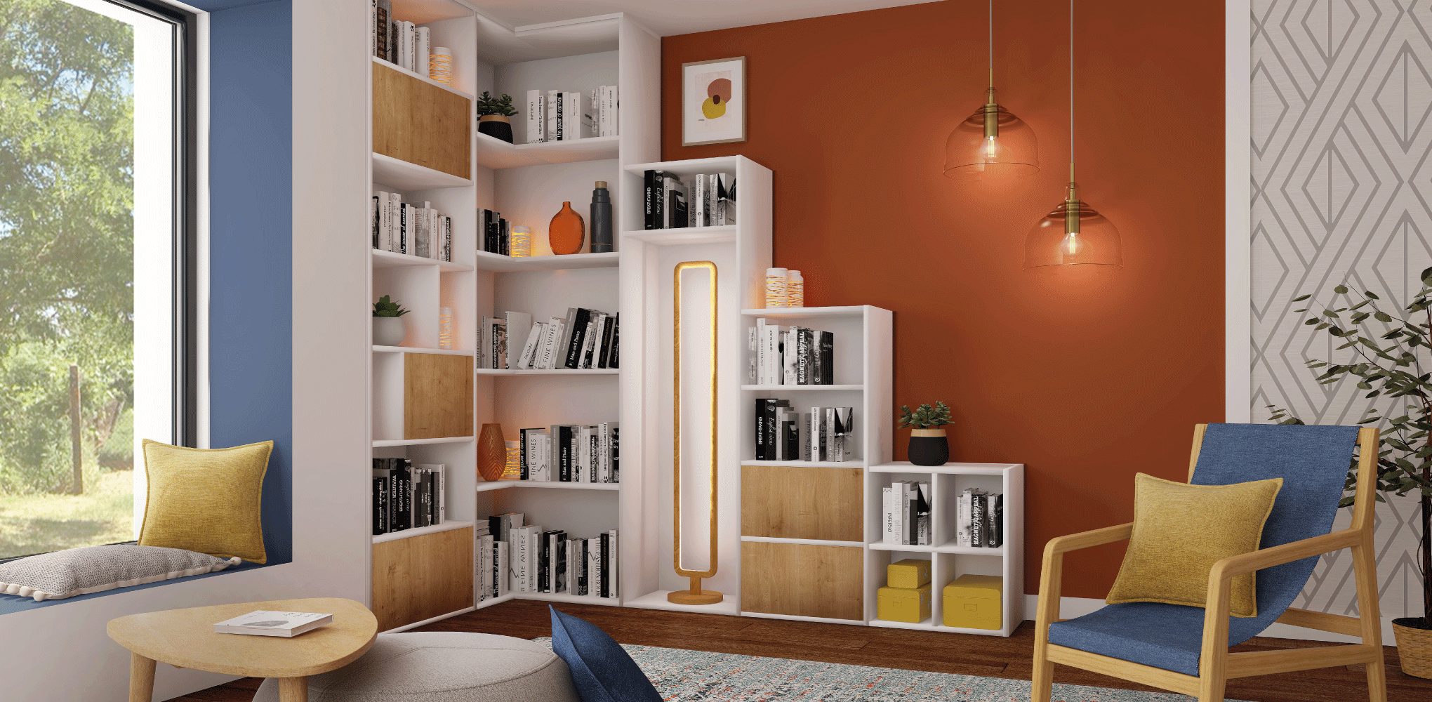 bibliothèque sous escalier mobibam