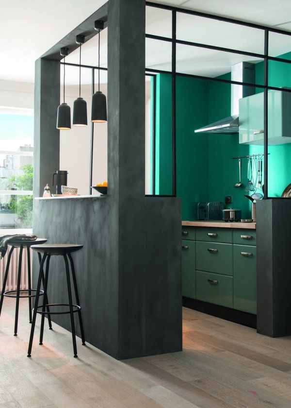 cuisine ouverte moderne décoration mobilier