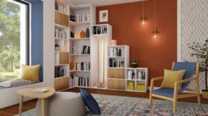 éclairage bibliothèque plafonnier décoratif