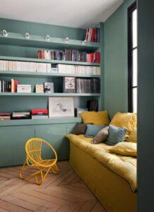 Bibliothèque sur-mesure colorée Mobibam