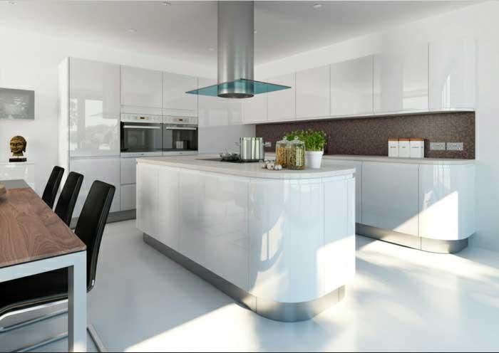 cuisine blanche super moderne décoration architecture d'intérieur