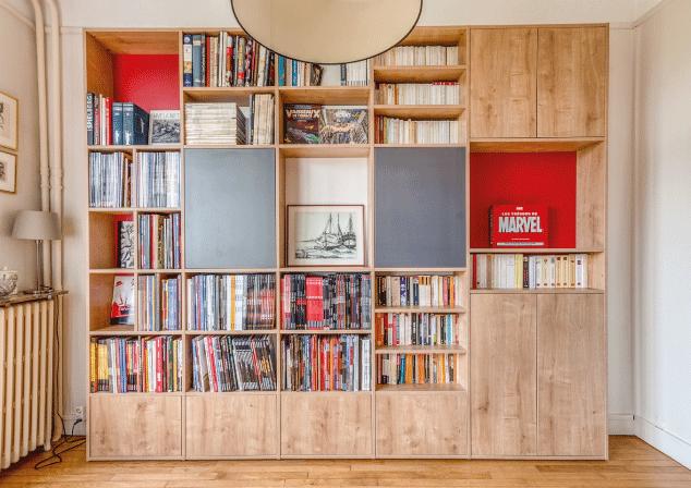 bibliothèque sur mesure mobibam