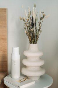 mobibam fleurs séchées vase blanc tendance déco