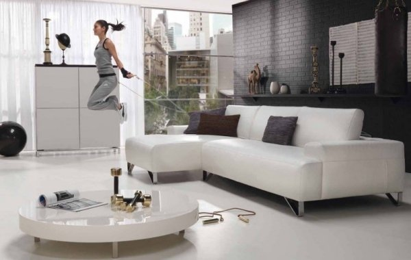 salon blanc décoration meuble design