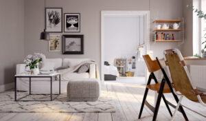 un salon cosy avec canapé sur mesure