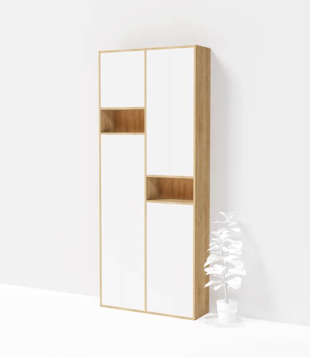 bibliothèque sur mesure bois blanc