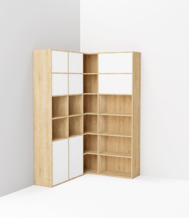 meuble angle sur mesure bois blanc