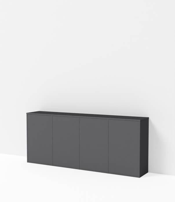 meuble bas sur mesure gris