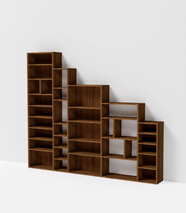 bibliothèque sous escalier meuble sur mesure