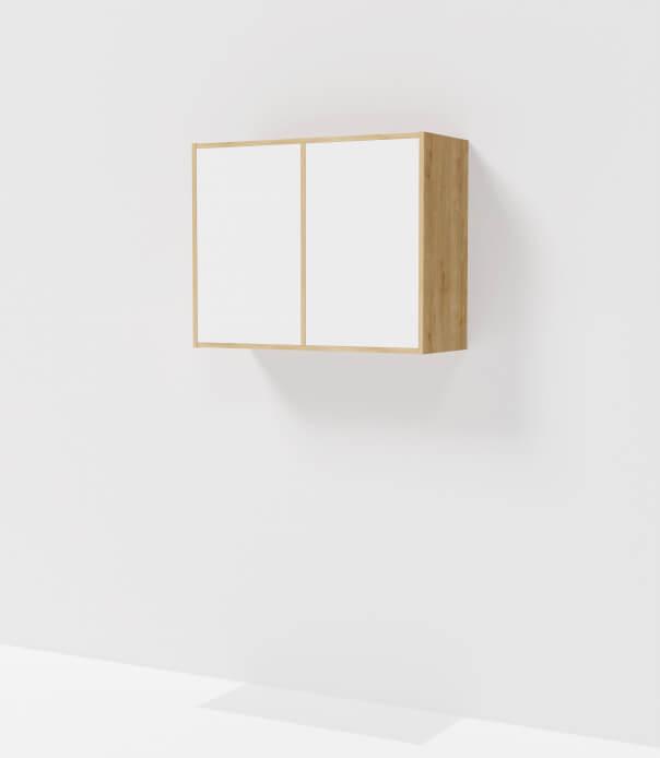 meuble haut sur mesure bois blanc