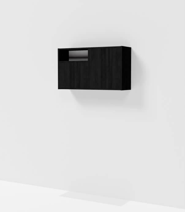 meuble haut noir sur mesure étagère