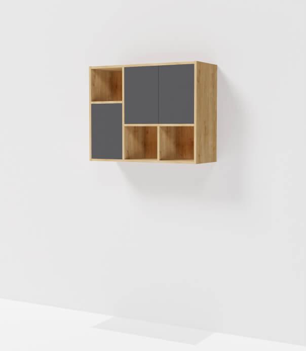 meuble haut bois sur mesure gris