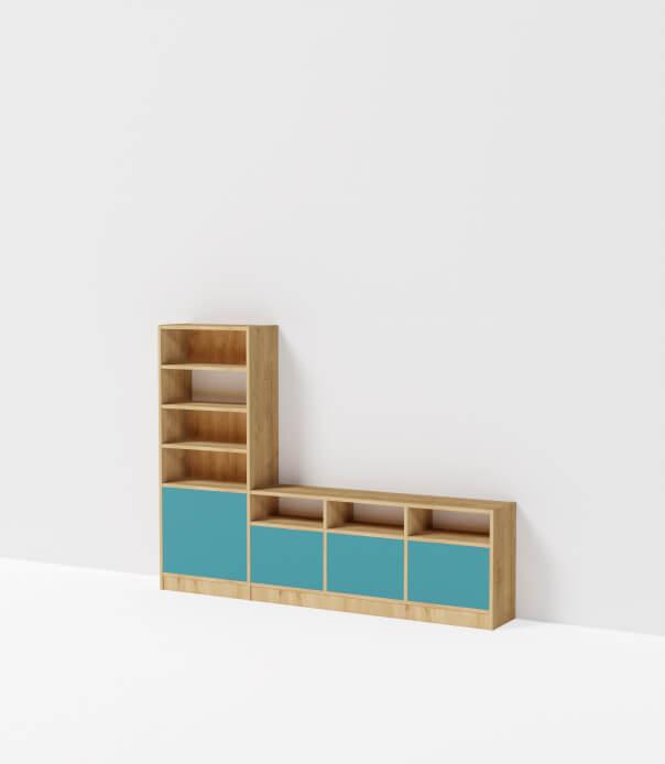 meuble tv sur mesure bois vert niagara