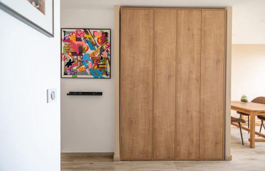 placard d'entrée sur mesure art décoration